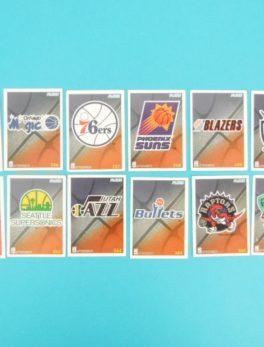 Cartes de 12 club NBA - FLEER - 95/96 - Version Européen