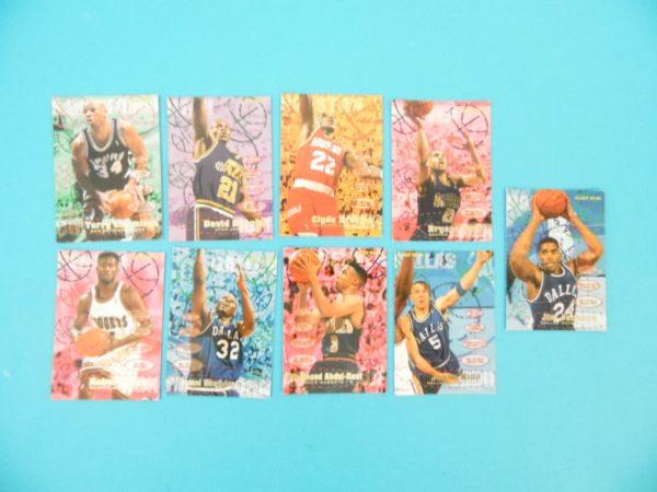 Cartes de 9 joueurs NBA - FLEER - 95/96