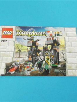 Notice Lego - Kingdoms - N°7187